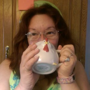 Me with my fave coffee mug!