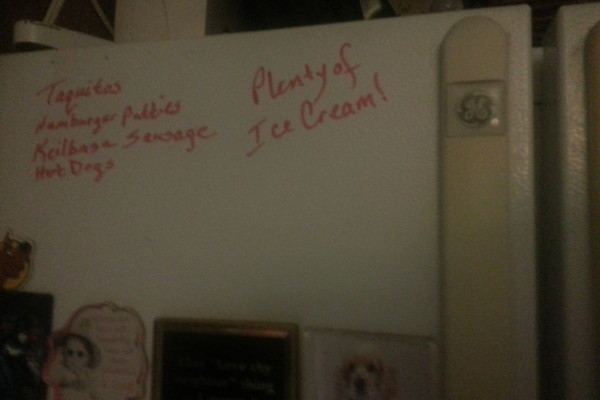 Liquid Chalkers let me leave messages right on the fridge!