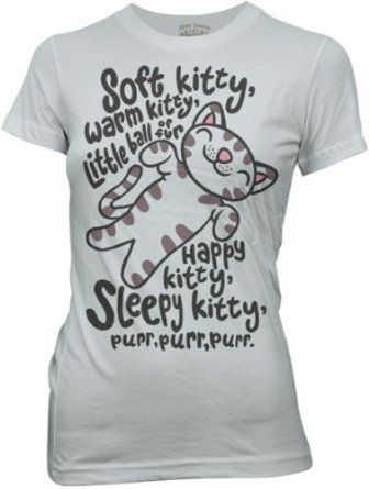 Big Bang Theory Soft Kitty Shirt from TVStoreOnline.com