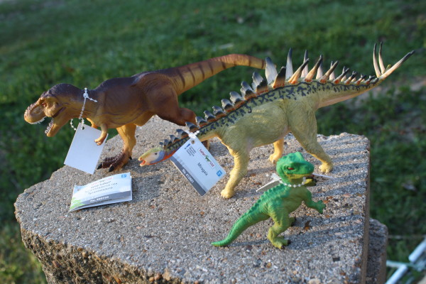 Safari Ltd T-Rex, Miragaia, and baby Allosaurus