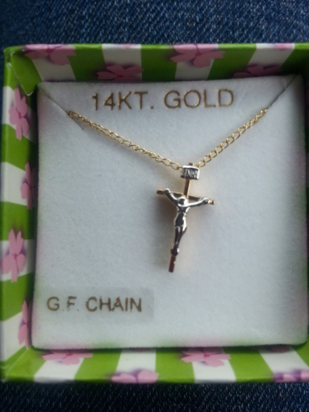 Cross necklace I got my granddaughter for her birthday