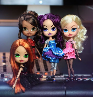 Beatrix Girls at the Recording Studio