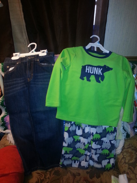 Cute jeans and 'Hunk' pajamas for my Cameo!
