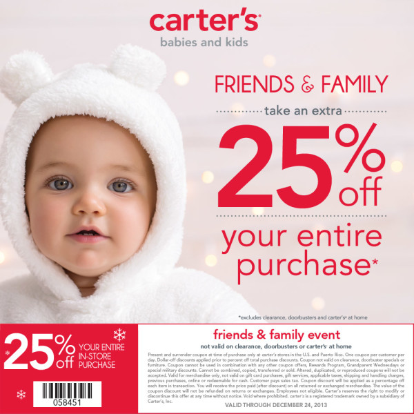 Carter's Friends & Family Coupon