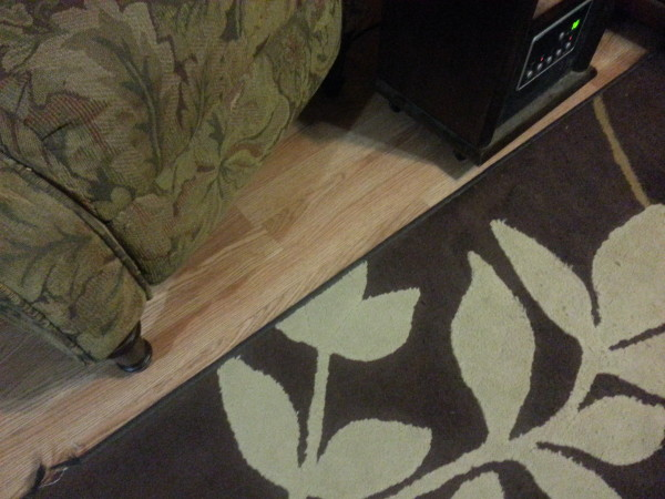 Beautiful floor by my chair