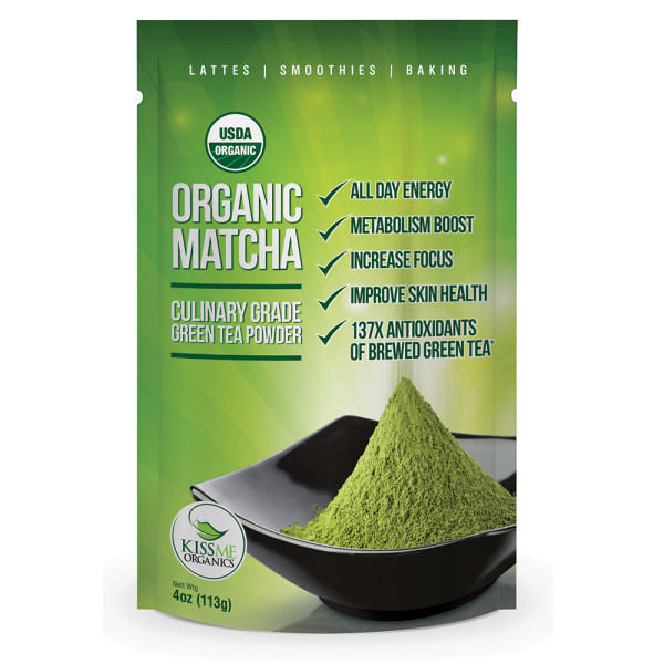 Organic Matcha - Green Tea Powder by Kiss Me Organics
