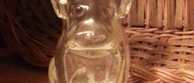 Vintage Bulldog Bottle ~ Wordless Wednesday