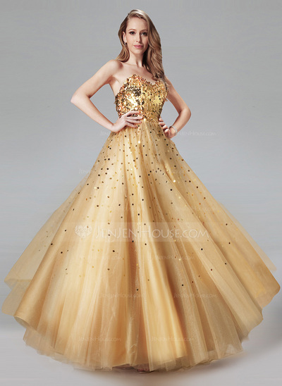 JenJenHouse Gold Prom Dress