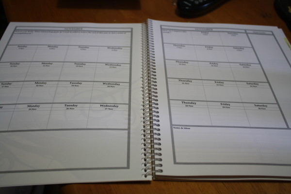Tools4Wisdome Planner - Month at a Glance pages