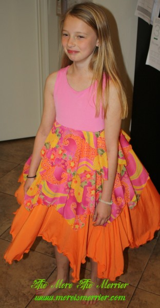 Geli in her TwirlyGirl® Petal Dress