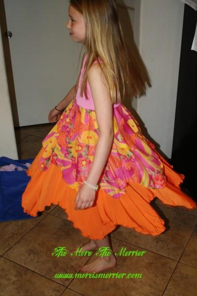TwirlyGirl dress side view