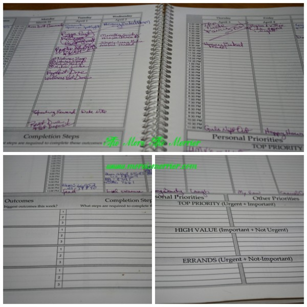 Tools4Wisdom Weekly planning pages