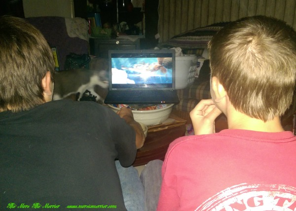 Boys Watching Ice Age download from BigG Cereals