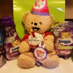 "Snuggle Bear says, ""Let's Party!!"""