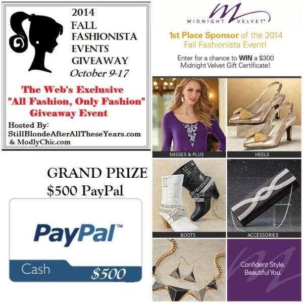 Fall Fashionista Grand Prize!!
