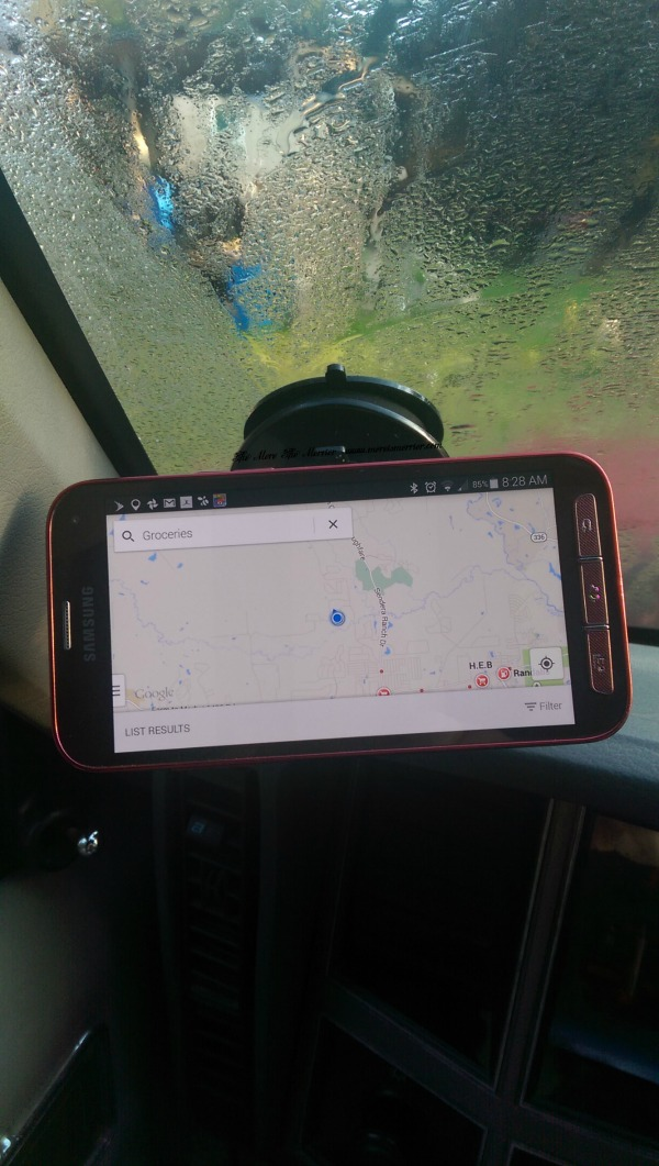 My phone on the Sticky Suction Car Mount from iGotTech