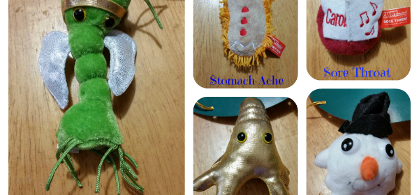 Giant Microbes Christmas Ornaments ~ Giving Thanks Event