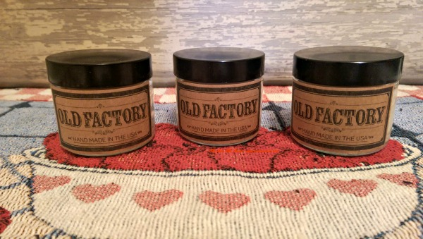 Three Old Factory Candles Jars