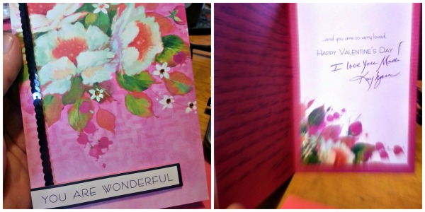 The card I sent my Mom - Inside & out!