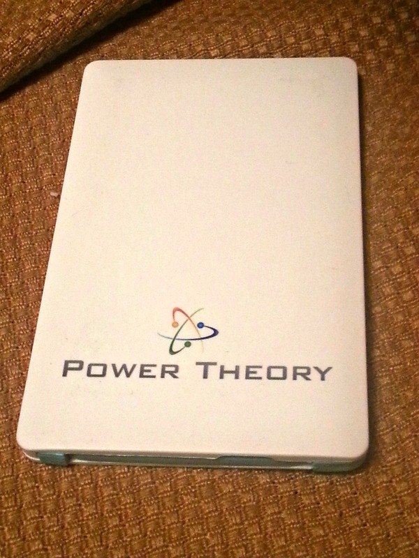 Power Theory Power Bank credit Card Sized External Battery Charger