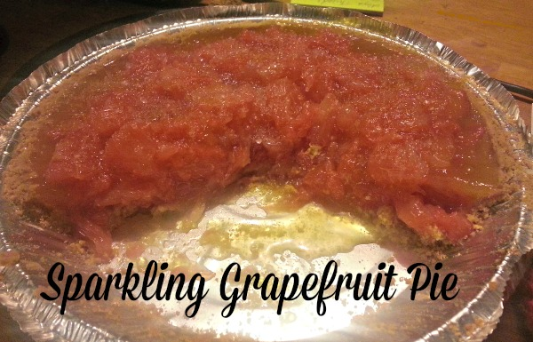 Sparkling Grapefruit Pie made with MorningPep Xylitol