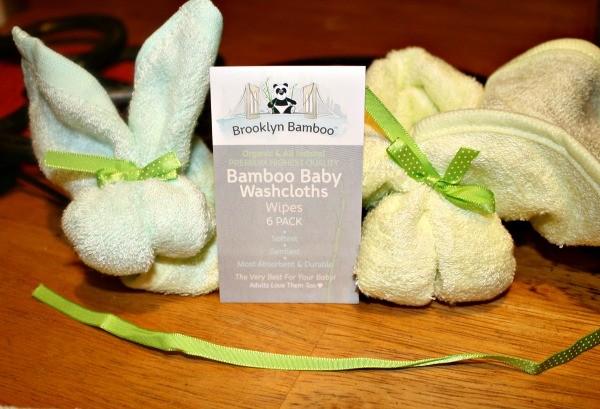 Bunnies made using Brooklyn Bamboo Baby Washcloths