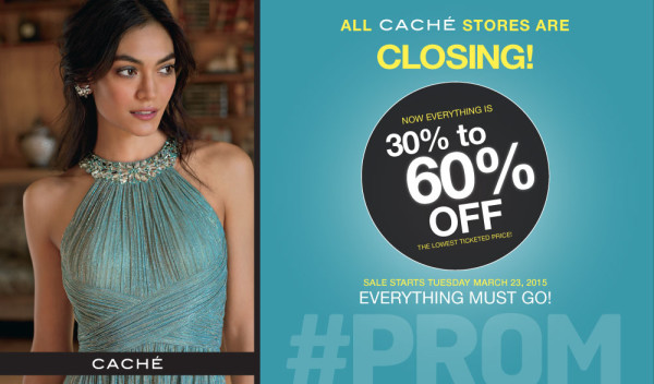 Cache is closing all 153 stores! Grab your favorite dresses now at 30 - 60 % off!!!