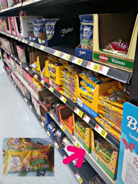 Walmart keeps NESTLE® TOLL HOUSE® Morsels on the Baking aisle in the middle of a main aisle!