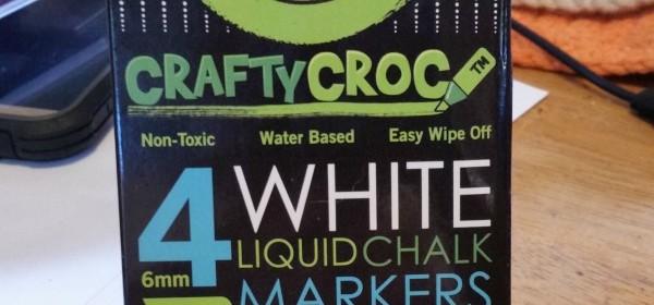 Crafty Croc White Liquid Chalk Markers