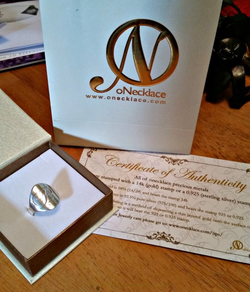 All oNecklace jewelry pieces come gift boxed with a bag and certificate of authenticity.