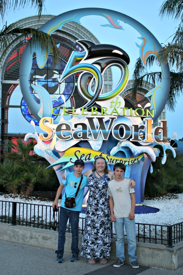 Me with my boys at SeaWorld San Antonio