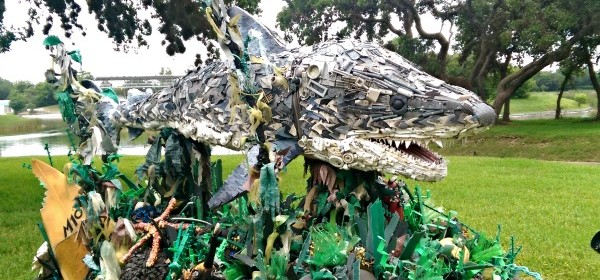Inspiration Through Trash Sculpture
