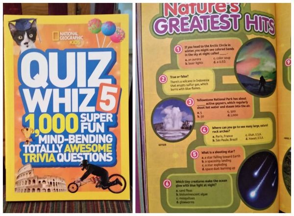 Quiz Whiz from National Geographic helps get children interested in Science, Biology, and environmental issues.