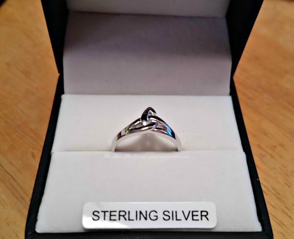 My beautiful Trinity Knot Ring from Celtic Wedding Rings