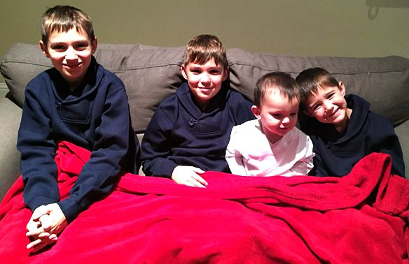 All my grandsons in their French Toast clothes!