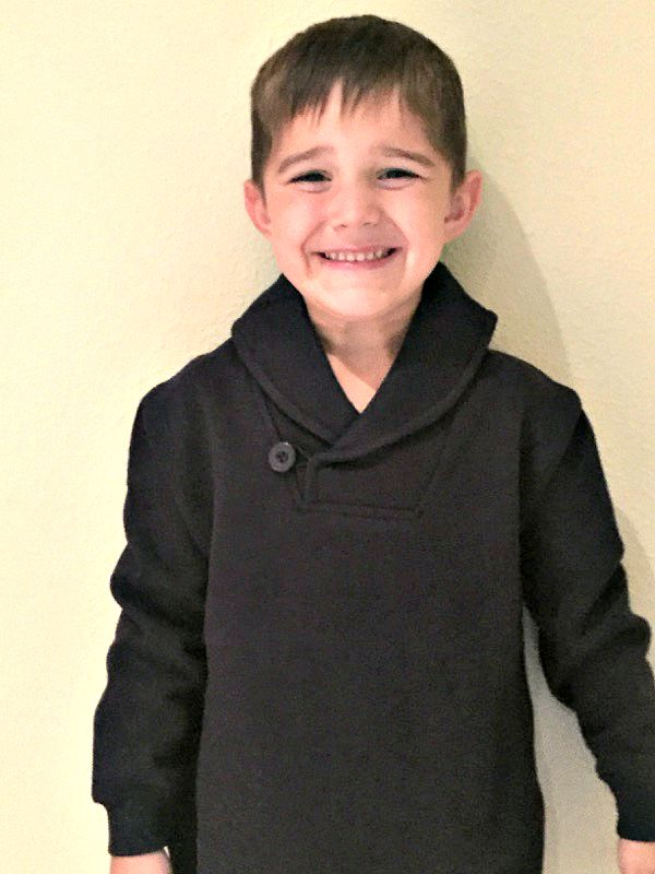 My Bug in his French Toast Shawl Collar Fleece Pullover
