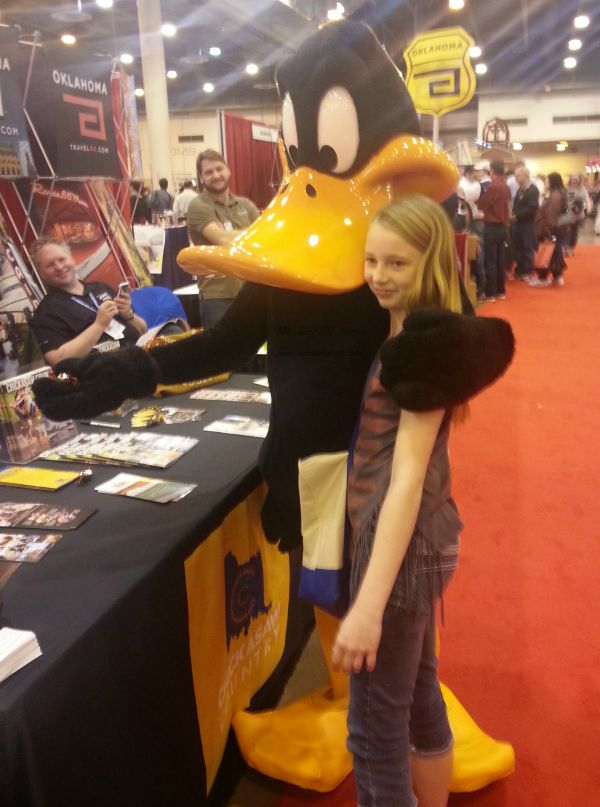 Daffy gets a hug! Texas Spring Home and Garden Show 2015 has it all!