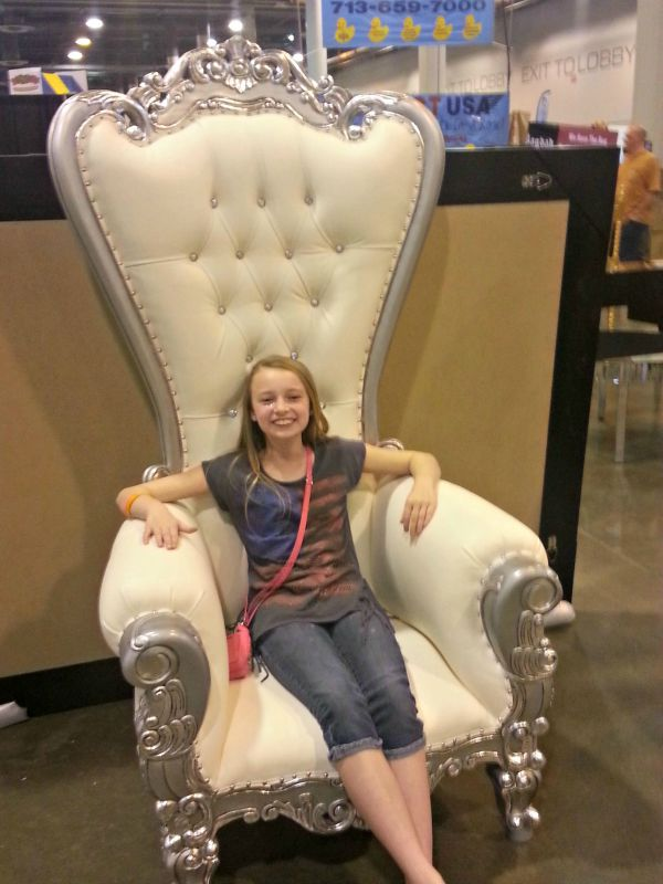 Princess Geli On Her Throne Spring Home and Garden Show 2015