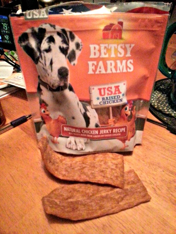 These Chicken Jerky Treats from Betsy Farms are made in the USA!