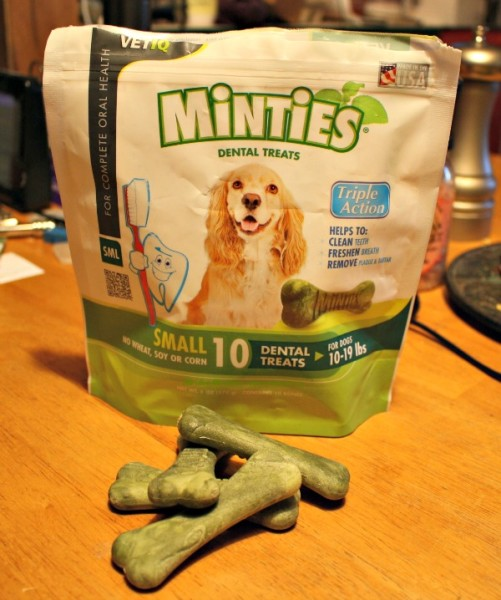 Maggie loves these Minties treats from VetIQ®
