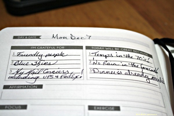 Panda Planner starts your day by telling what you are grateful for, and why your day will be great!