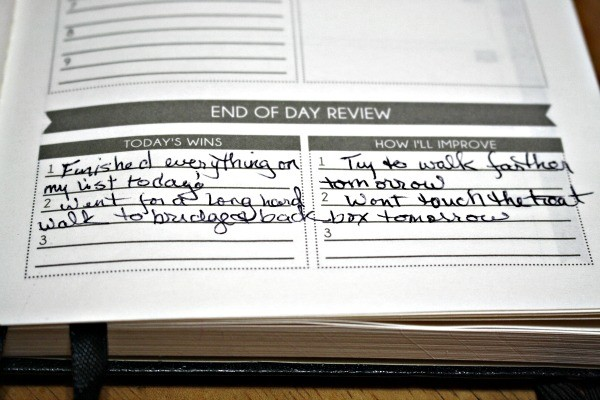 The Panda Planner End of Day Review gives you a chance to go back over your day