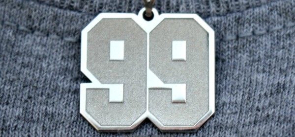 The Jersey Number Pendant from Pictures On Gold