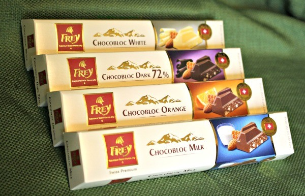 Chocolat Frey® Chocobloc Bars are my boys' favorites!