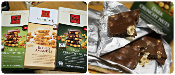 Chocolat Frey® Crunchy Nuts Bars are my favorite!