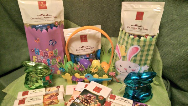 We are using Chocolat Frey® chocolates to make Easter Baskets