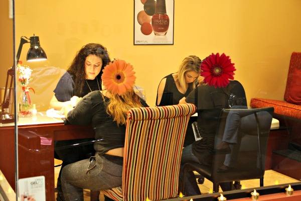 Having their nails done was so nice at a Night of Beauty