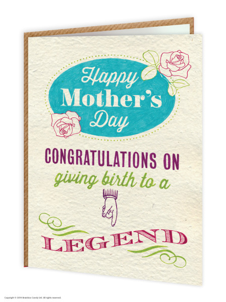 Mothers Day Card from BrainBoxCandy