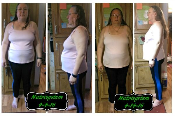 Beginning pictures, and week 1 pictures after starting Nutrisystem!