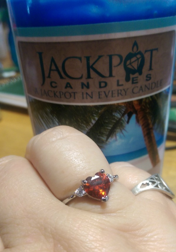 I found this beautiful ring in my Ocean Breeze Jackpot Candle